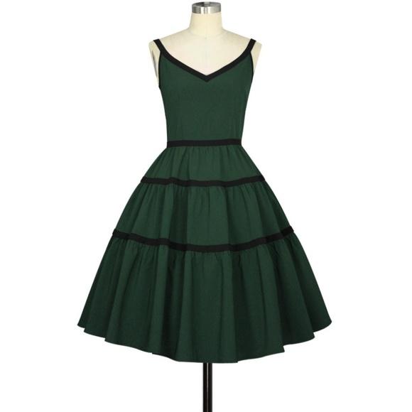 763ec99e7af Plus Size Pin Up Clothing Pocket 1950s Dress Green